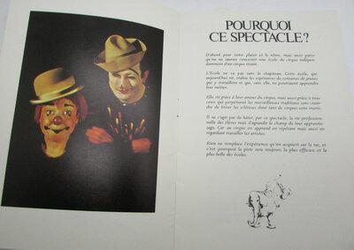 Programme - École Nationale du Cirque by ÉTAIX, Pierre