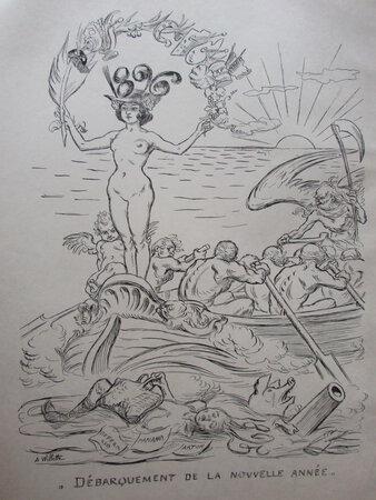 D'Embarquement de la Nouvelle Annee 1896. by WILLETTE, Adolph