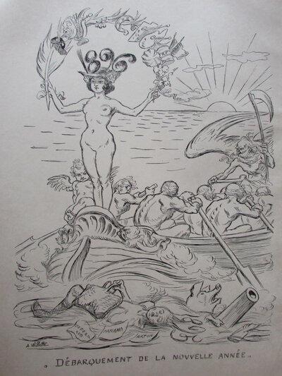 D'Embarquement de la Nouvelle Annee 1896 by WILLETTE, Adolph