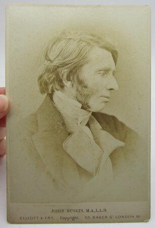 Albumen Photograph of John Ruskin by RUSKIN, John.