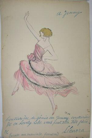 Leonora Hughes - from Album Le Nouveau Monde (2ème série). by SEM [Georges Goursat]