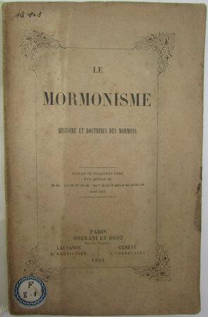 Le Mormonisme. by CONYBEARE, William John