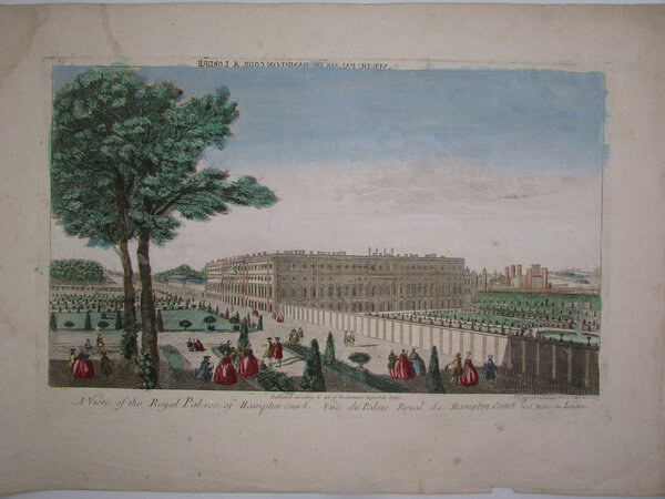 Vue d'optique of the Royal Palace of Hampton Court. by [ANON]