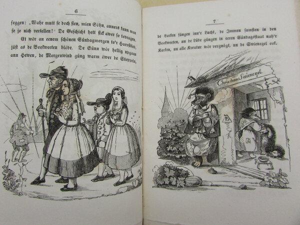 De Swienegel als Wettrenner. by LYSER, Johann Peter