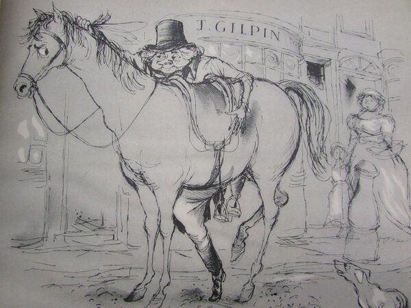 The Diverting History of John Gilpin. by SEARLE, Ronald (illustrator), COWPER, William
