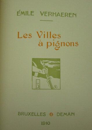 Toute la Flandre. Les villes à pignons. by VERHAEREN, Émile
