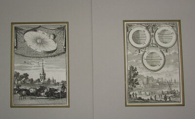 Two Celestial Copper Engravings. by MALLET, A. M.