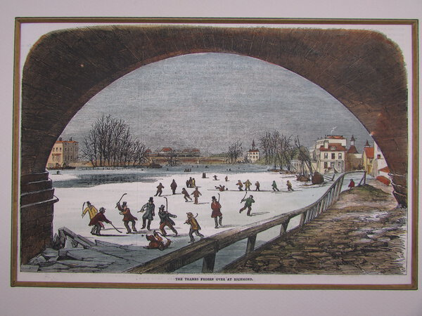 The Thames frozen over at Richmond. by Anonymous