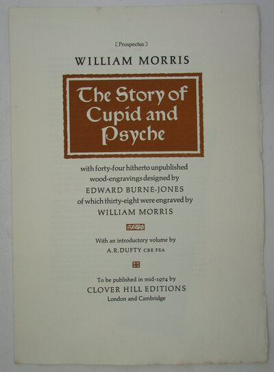 Prospectus for 'The Story of Cupid and Psyche'. by MORRIS, William [Rampant Lions Press]