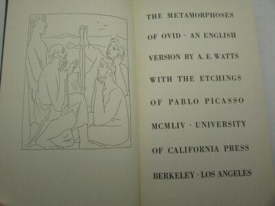 The Metamorphoses of Ovid. by WATTS, A.E.