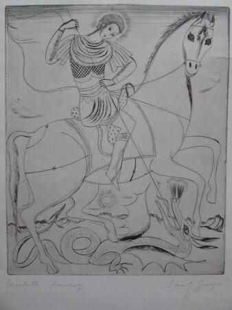 "Etching on paper: ""Saint Georges"". by IVANOVSKY, Elisabeth"