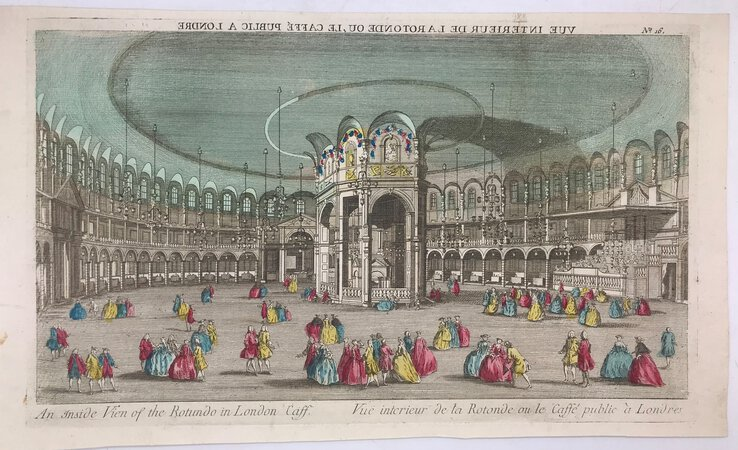 Vue d'optique An inside View of the Rotundo in London Caff. by [ANON]