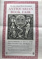 22nd Annual Boston International Antiquarian Book Fair Poster. by WATERS, Daniel