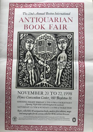 22nd Annual Boston International Antiquarian Book Fair Poster. by WATERS, Daniel