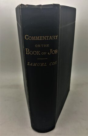 A commentary on the book of Job with a translation by COX, Samuel
