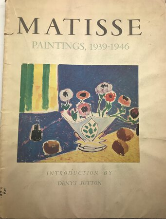 MATISSE Paintings, 1939 - 1946 by SUTTON, Denys