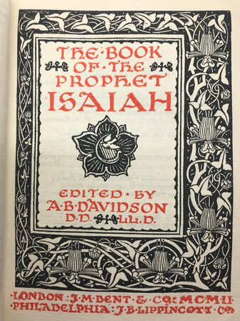 The Book of the Prophet Isaiah by DAVIDSON, A. B.
