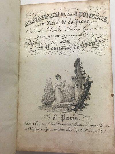 Almanach de la jeunesse en vers & en prose, orné de douze jolies gravures; by GENLIS, Mme La Comtesse de