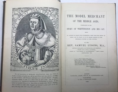 The Model Merchant of the Middle Ages, exemplified in the Story of Whittington and his Cat by LYSONS, Rev. Samuel