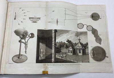 An Essay on Vision Briefly Explaining the Fabric of the Eye and the Nature of Vision. by ADAMS, George