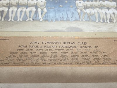 Army Gymnastic Display Class. Royal Naval & Military Tournament, Olympia 1913 by [Anon]