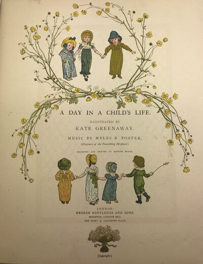 A Day in a Child's Life by GREENAWAY, Kate (illustrator) FOSTER, Myles B. ( music)