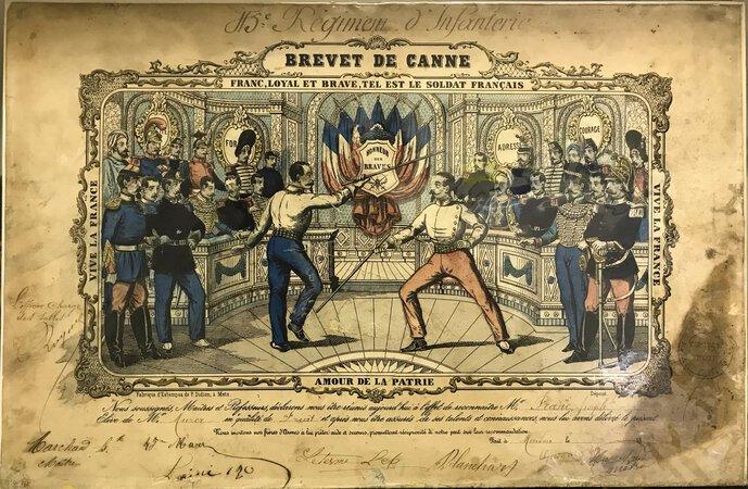 19th Century Brevet de Canne. by DIDION, Paulin