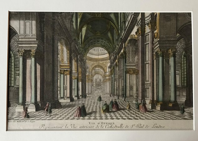 Vue d'optique - Representant la Vue interieure de la Cathedralle de St Paul de Londres by [ANON]