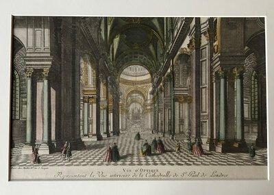 Vue d'optique - Representant la Vue interieure de la Cathedralle de St Paul de Londres by [ANON]