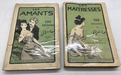 Les Maitresses / Les Amants. 100 dessins by BAC (Ferdinand) & Felicien CHAMPSAUR