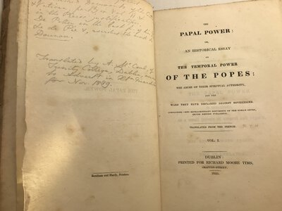 The Papal Power: or, an Historical Essay on the Temporal Power of the Popes: by [ANON]