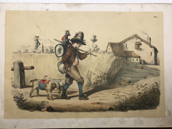 A Collection Of Hand Coloured Lithographs. by [ANON]