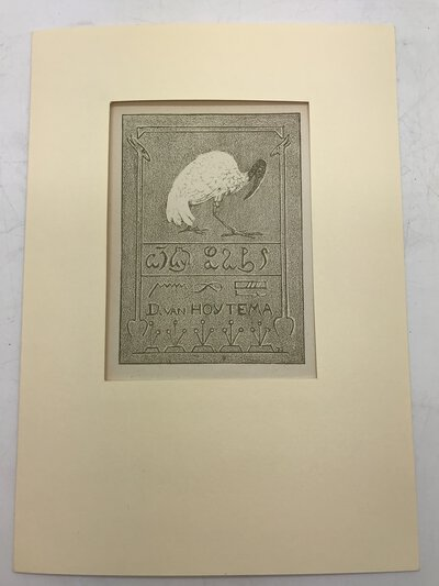 Ex libris - Ibis - van Dominicus van Hoytema by HOYTEMA, Theo Van. [1863-1917]