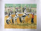 Another image of Le cirque / The Circus - signed lithograph by BRAYER, Yves