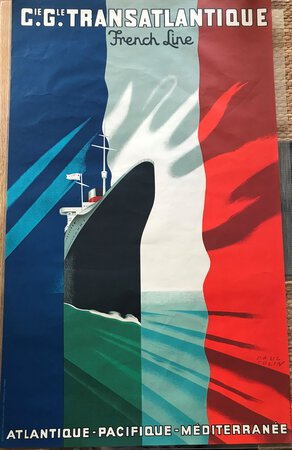 Editions Transatlantique. French Line by COLIN, Paul