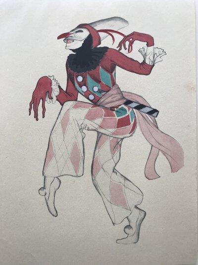 Harlekin - Plate #10 from Ballett und Pantomime by SCHNACKENBERG, Walter