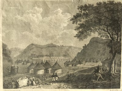 Engraved plate - A View of Kamalia by PARKS, Mungo