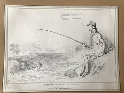Fishing in Troubled Waters. Or how to hold out a bait. by HB (John Doyle)