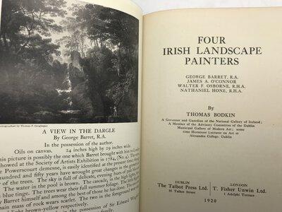 Four Irish Landscape Painters: George Barret R.A., James A. O'Connor, Walter Osborne R.H.A., Nathaniel Hone, R.H.A. by BODKIN, John