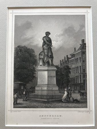 Rembrandts Statue, Amsterdam by ROHBOCK, Ludwig