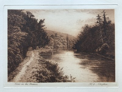 View on the Thames. Plate No. 3 - Cliefden by SLOCOMBE, Frederick