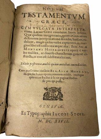 Novum Testamentum Graece. by [ANON]