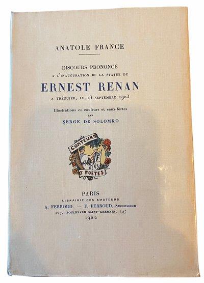 Discours prononcé à l'inauguration de la statue de Ernest Renan à Tréguier, le 13 septembre 1903 by FRANCE, Anatole