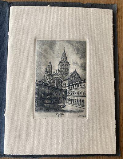Goldenes Mainz - Original-Radierungen by LIEBIG, Bernhard