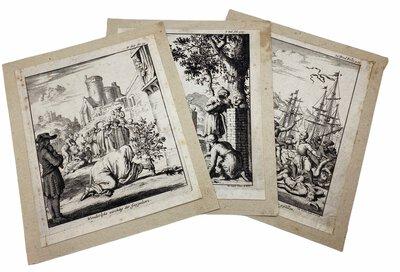 Four engraved plates from the work Les Six Voyages de Jean-Baptiste Tavernier by LUYKEN, Jan. [Luiken]