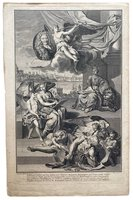 Allegory of the History of England. by PICART, B.