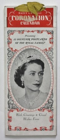 Daily Graphic CORONATION CALENDAR Presenting 12 souvenir postcards of the Royal Family.