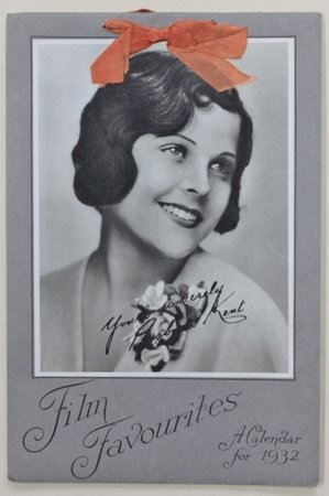 FILM FAVOURITES A Calendar for 1932, printed by Hills of London.