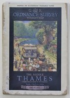 Ordnance Survey Map THE MIDDLE THAMES (from Wallingford to Kew Bridge).