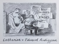 Christmas Card. 'THE LIFE CLASS. by Ardizzone, Edward. [1900-1979.]